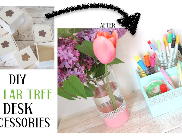 Dollar Tree DIY Simple Wood Desk Organizer and an Updated Vase