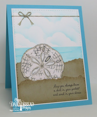 ODBD Ocean Treasures, ODBD Custom Double Stitched Rectangles Dies, ODBD Custom Clouds and Raindrops Dies, Card Designer Angie Crockett