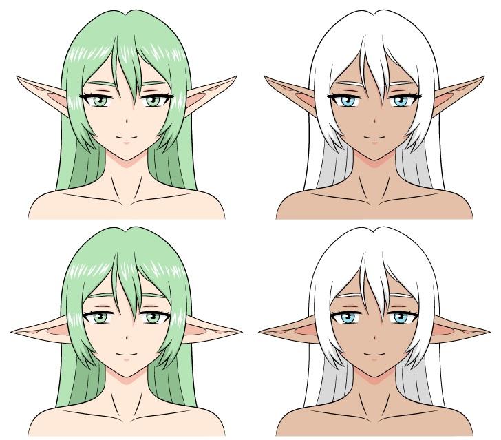 Elf anime menggambar