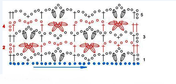 Tığ işi Toplu Çiçekler Modeli - Resimli Anlatım