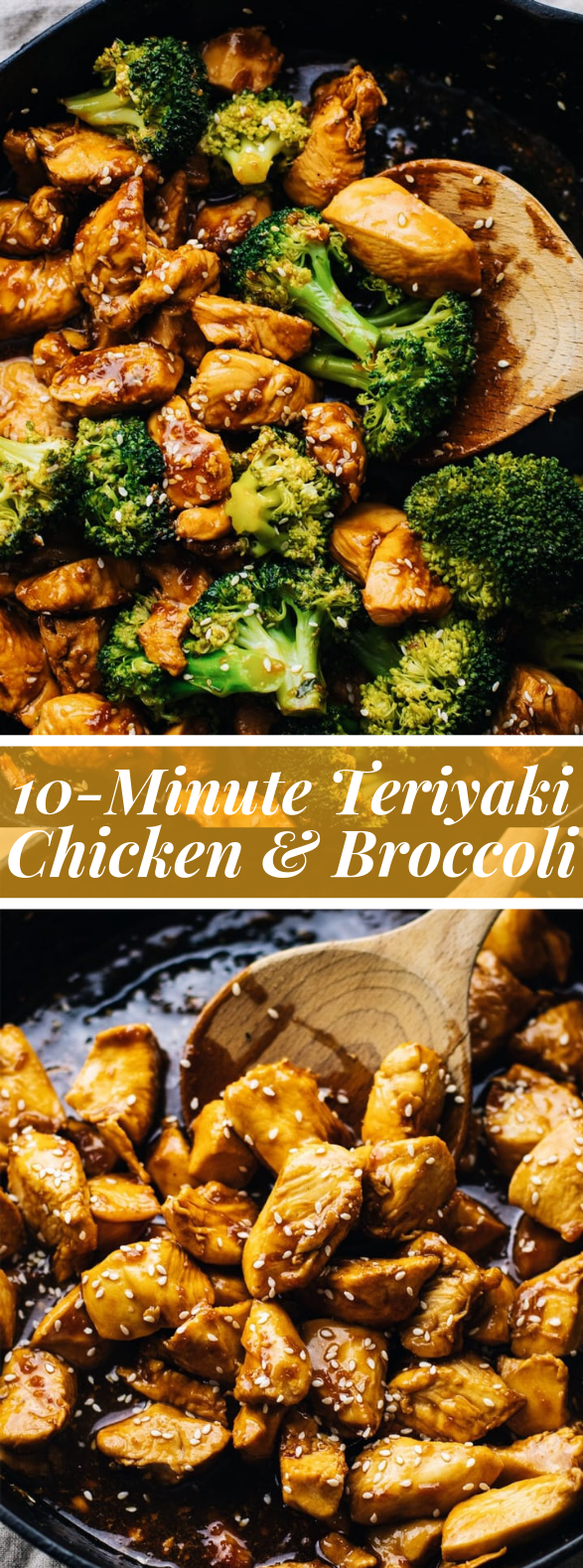 10-Minute Teriyaki Chicken & Broccoli #healthydinner #lowcarb