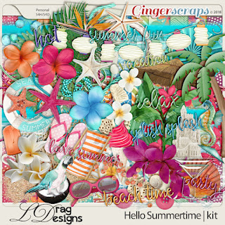 Creative Team for LDrag Designs -   Hello Summertime and Coordinating Freebie