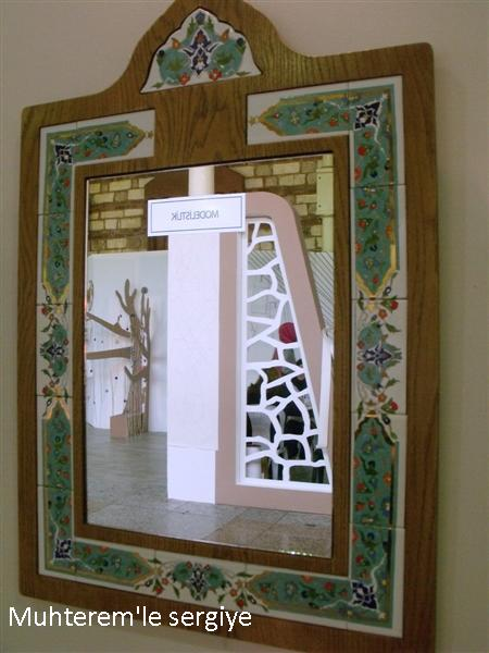 porcelain mirror painting art
