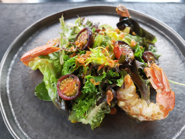 Grilled Argentinean Red King Prawn Salad