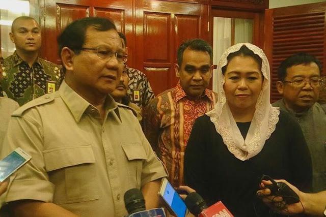 Pilkada Jatim, Prabowo Sedih Ditolak Yenny Wahid