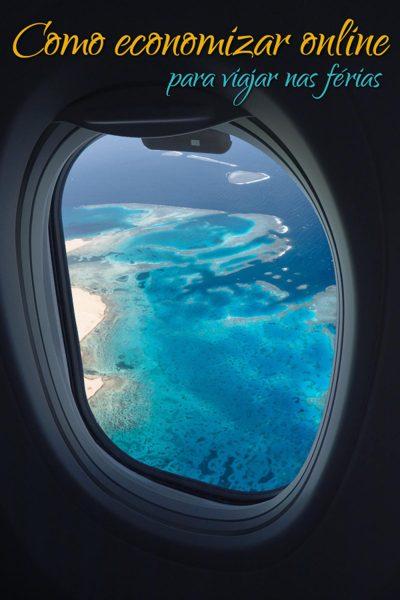 como economizar online para viajar nas férias