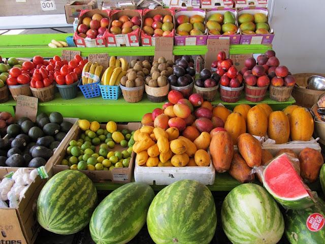 Farmers Market Fruit Stand, public domain image