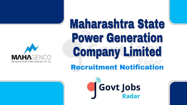 MAHAGENCO Recruitment 2019 - for Chemist, Finance & Accounts and Various - 122 post