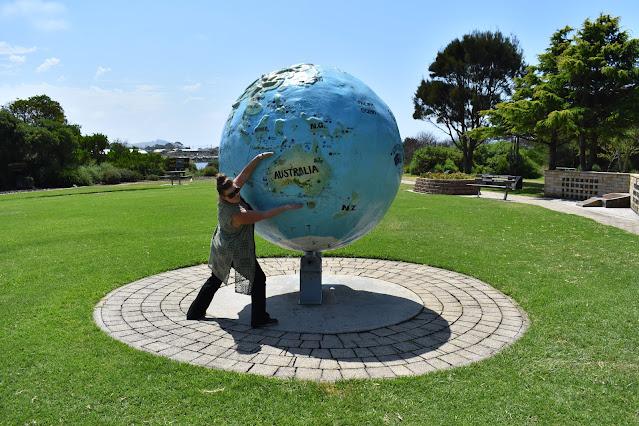 World Globe Sculpture in ANZAC Memorial Park | Ulverstone, Tasmania