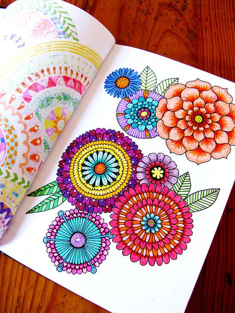 mandala flower coloring book for grown ups