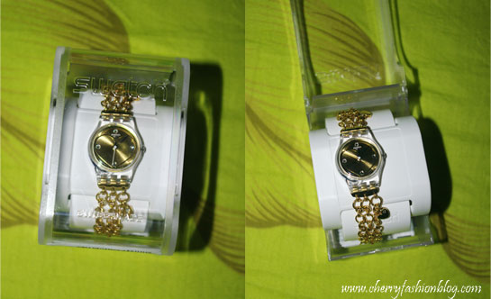 Gold heart swatch watch, Swatch watch, chain watch