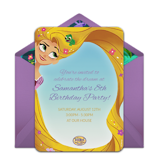 tangled the series invitation