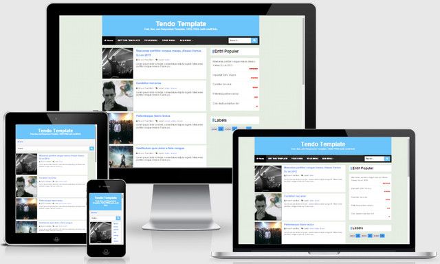 Tendo v.2.3 Responsive Blogger Templates
