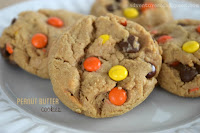 peanut butter cookies with reeses pieces