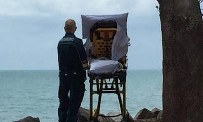 O pedido foi feito e Paciente terminal ver o mar pela última vez