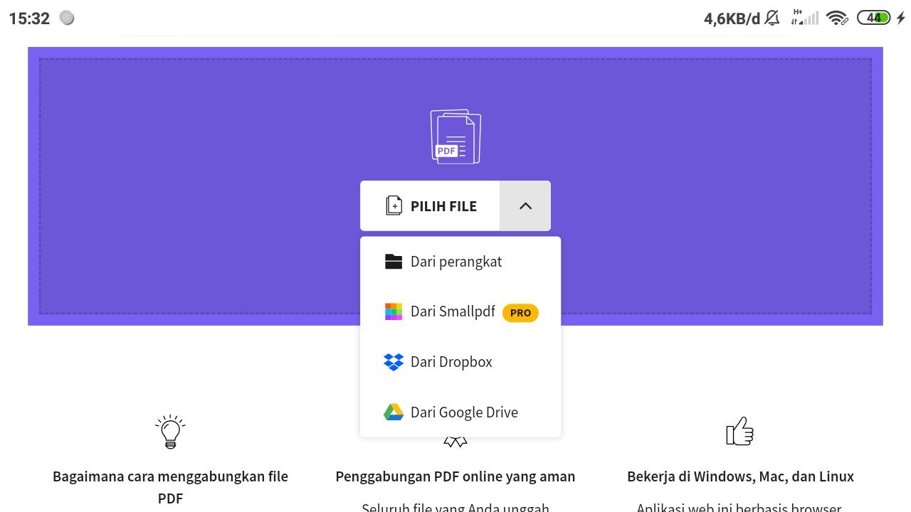 Pilih File PDF dari Perangkat