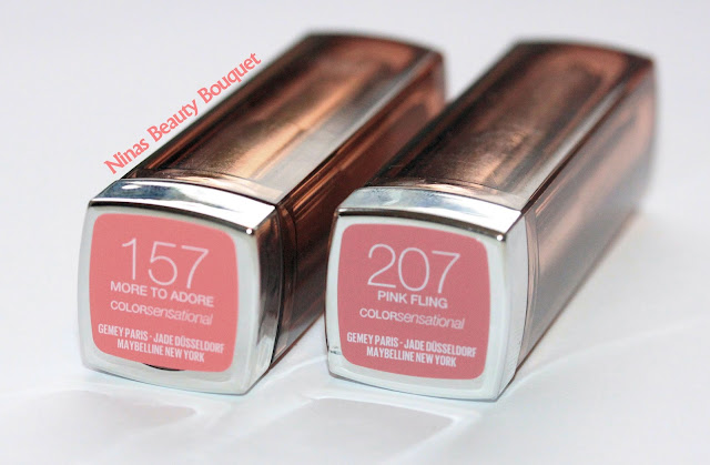 Maybelline The Blushed Nudes Colorsensational  Lippenstifte 157 More to Adore + 207 Pink Fling