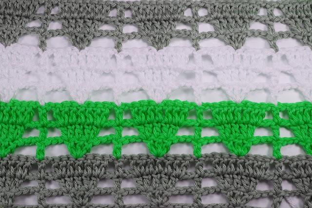 4 - Crochet Imagen Puntada de triangulo calada a crochet y ganchillo por Majovel Crochet