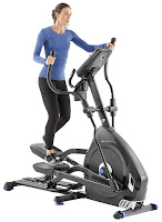 "Nautilus E616 Elliptical Trainer MY18 2018, with high speed high inertia perimeter weighted flywheel, 25 ECB resistance levels, 29 programs, 20"" precision path stride length, dual rail system, 0-11% motorized incline"