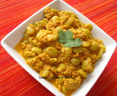 Lima Beans coconut curry