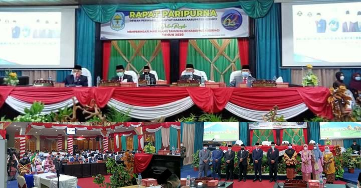 Hut Ke-62 Kabupaten Kerinci, Bupati Adirozal Paparkan Capaian Keberhasilan Setiap OPD Pada Rapat Paripurna Istimewa