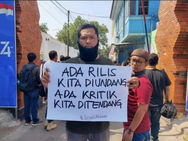 Kekerasan Jurnalis, Organisasi Pers Ancam Gugat Presiden Jokowi dan Kapolri