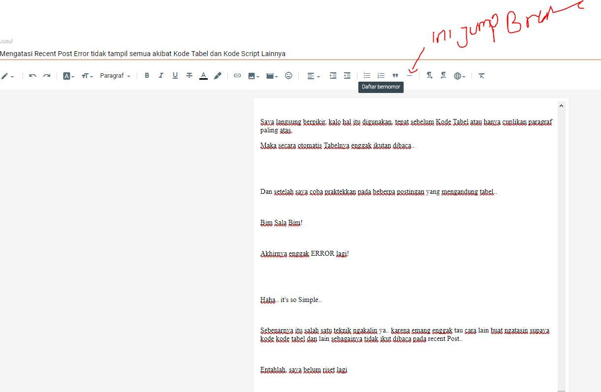 jump break blogger terbaru
