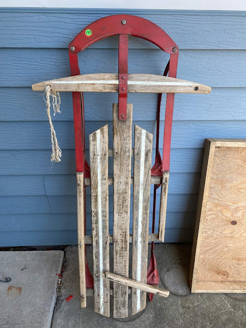 Photo of a vintage sled