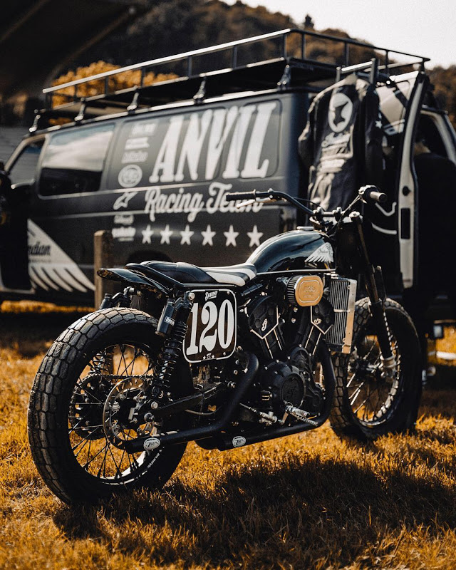 Anvil Racing Team Indian Scout Flat-Tracker