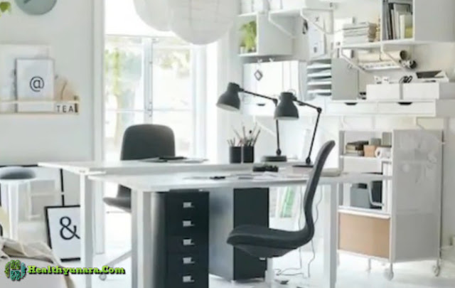 Good lighting on design workspace