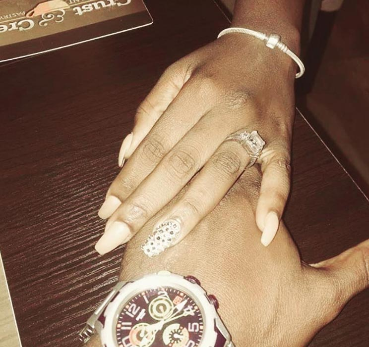 Yvonne Jegede flaunts her engagement ring