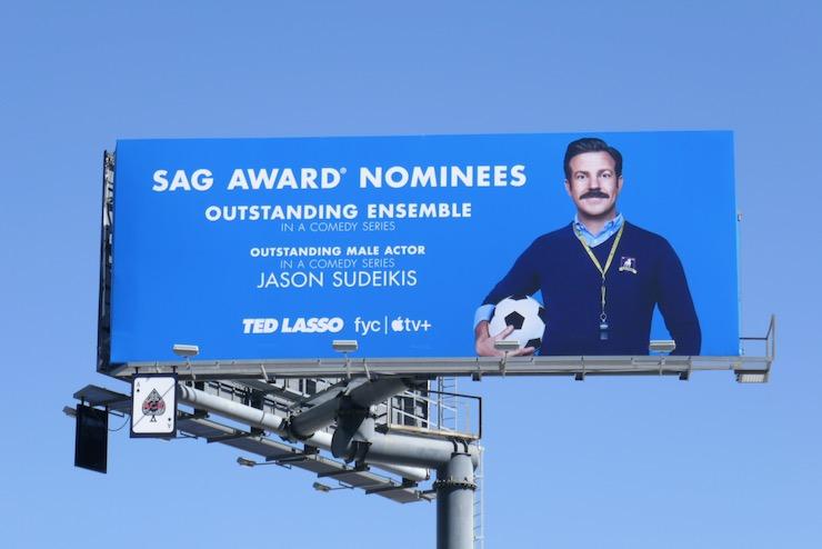 Ted Lasso SAG Award nominees billboard