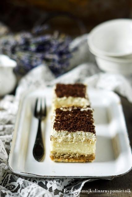 ciasto, 3 bit, deser, kajmak, herbatniki, bernika, kulinarny pamietnik