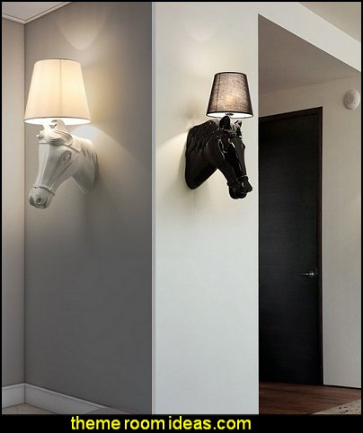 Horse Head Shaped Home Decoration and Wall Lamp