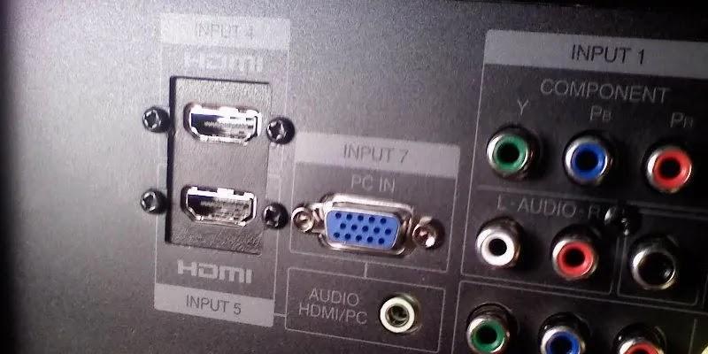 توصيل جهاز الكمبيوتر بالتلفزيون