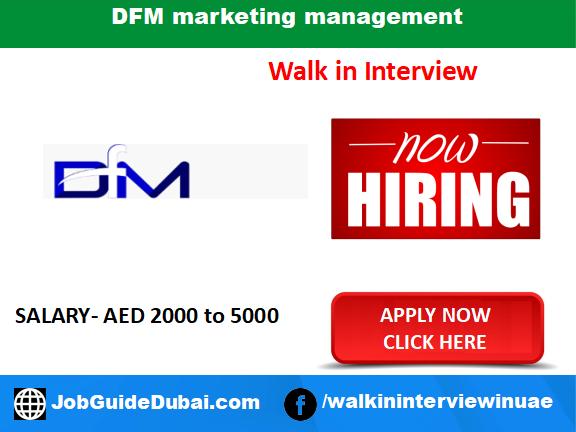 DFM marketing management career for Sales and Marketing jobs in Dubai UAE