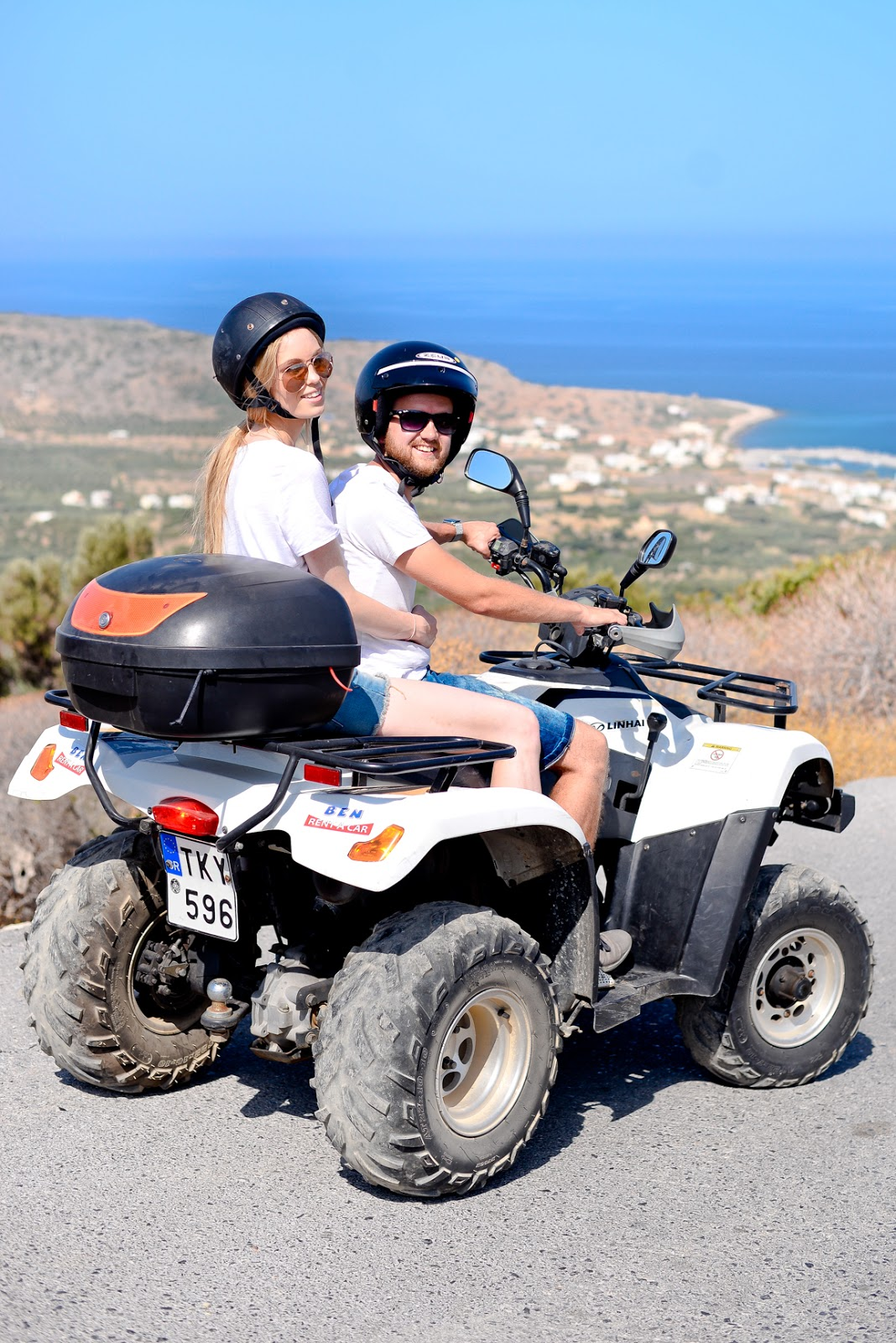 quad biking in crete