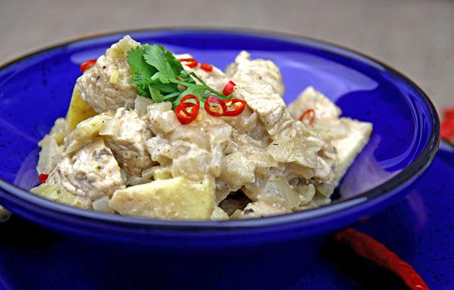 Indyjskie curry z kurczaka z jabłkiem