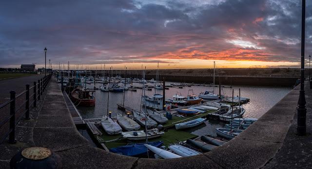 Photos of Maryport Marina at sunset
