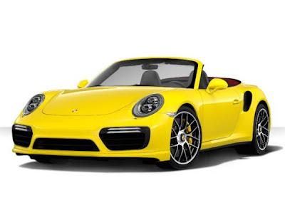 Porsche 911 Turbo S Cabriolet color: Racing Yellow