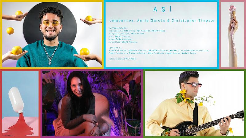 Jotabarrioz & Annie Garcés & Christopher Simpson  - ¨Así¨ - Videoclip - Director: Yaas Valdés. Portal Del Vídeo Clip Cubano