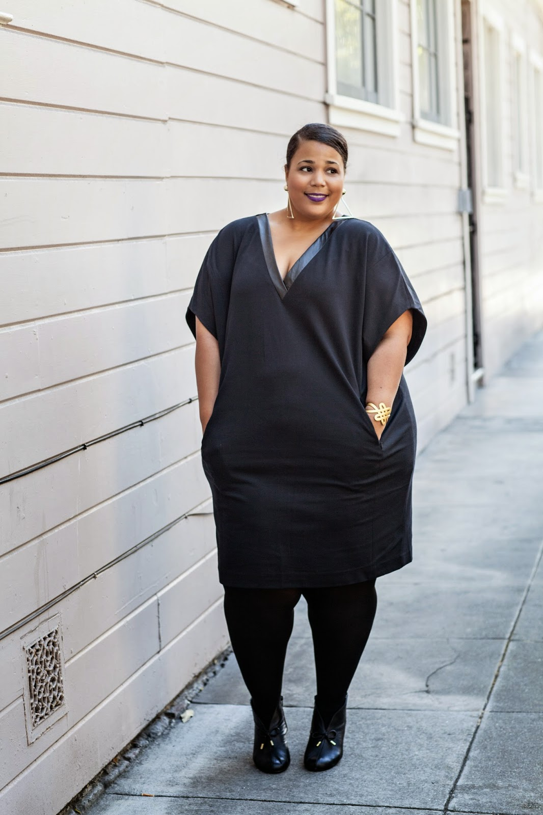 Plus Size Oversized Dress, Plus size black dress