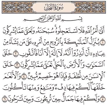 Tafsir Surat An-Nahl Ayat 1, 2, 3, 4, 5