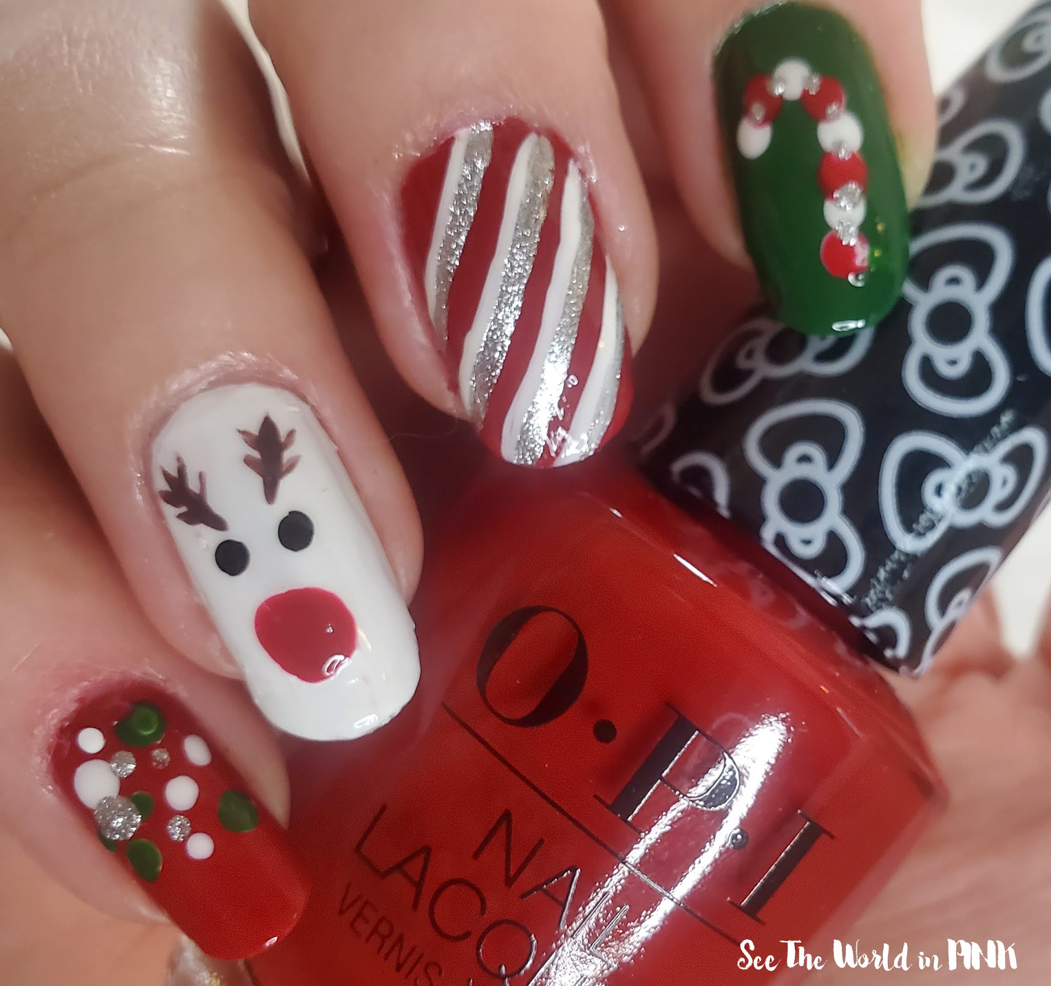 Manicure Monday - Christmas Reindeer Nails