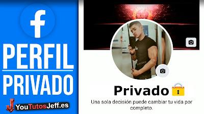 como poner privado facebook