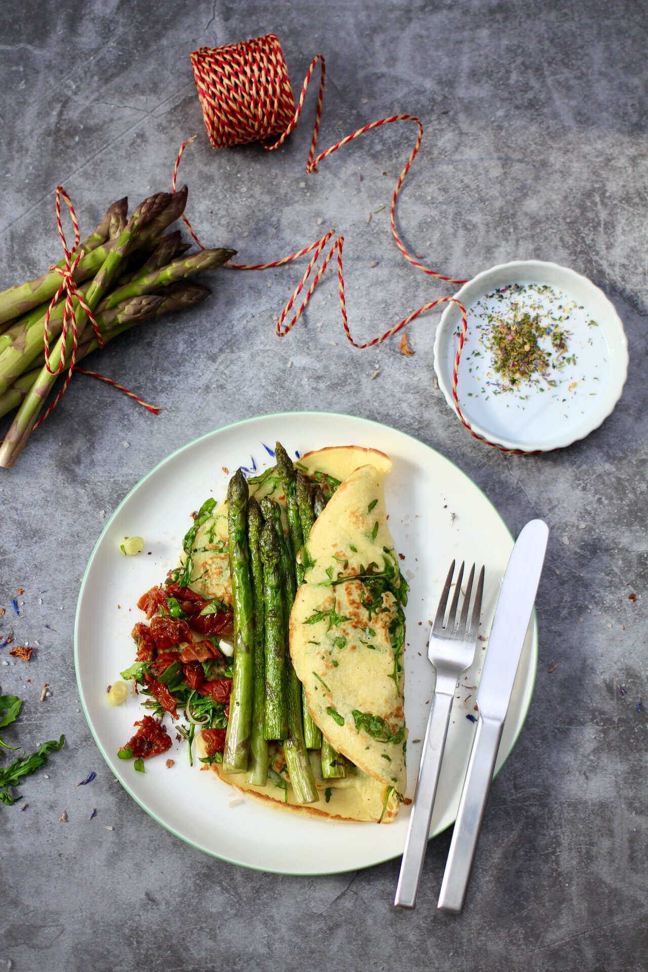 Spargel-Crepes