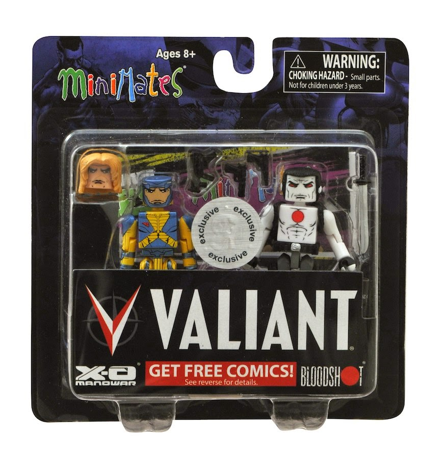 Two of the greatest heroes of the valiant universe have stepped into the three dimensional world with an all new valiant minimates two pack from diamond