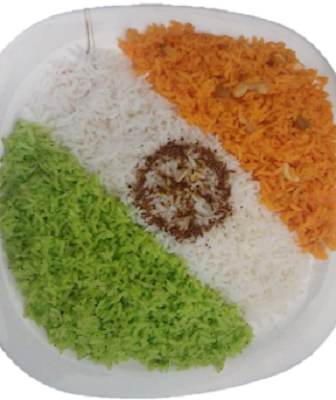 recipe for tricolor rice  or  casserole