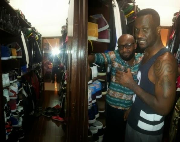 peter okoye shoes closet