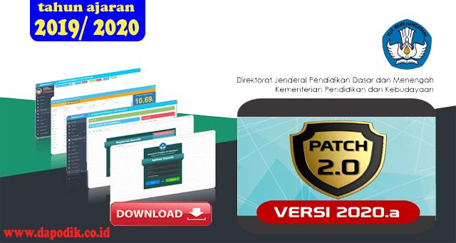 Download, Rilis Pembaruan Aplikasi Dapodik Versi 2020.a Patch 2